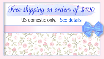 Free shipping for baby jewelry orders over one hundred dollars.