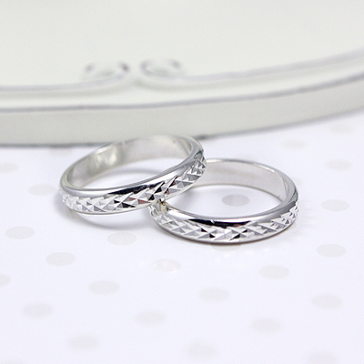 Sterling silver diamond-cut band ring for babies and toddlers; engrave inside band.