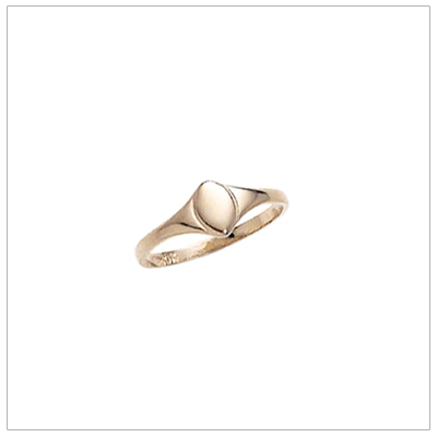 10kt gold signet ring for toddler girls or toddler boys for a special baby gift.