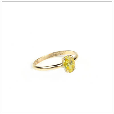 10kt gold birthstone ring for girls with an oval birthstone, November birthstone ring.