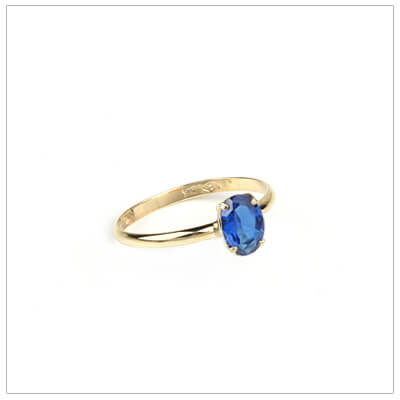 10kt gold birthstone ring for girls with an oval birthstone, September birthstone ring.