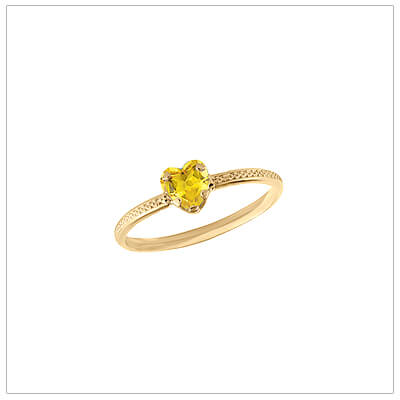 10kt gold heart-shaped birthstone ring with a patterned band, November birthstone ring for children.
