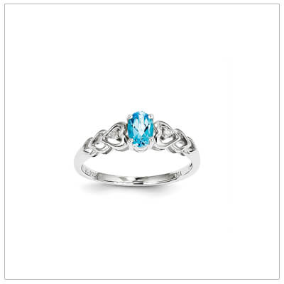 sterling diamond and birthstone ring december gifts for teenage girls