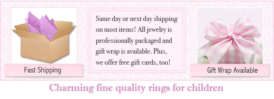 Children's rings ship fast; gift wrap available.