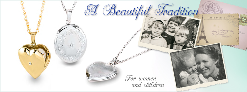 Locket necklaces are a beautiful tradition for keeping special photographs.
