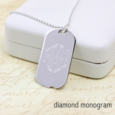 Boys Custom Dog Tags in sterling silver