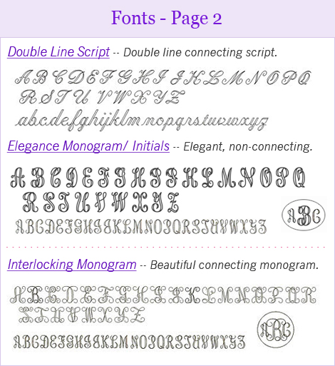 Monogram fonts for engraving children and teen necklace.