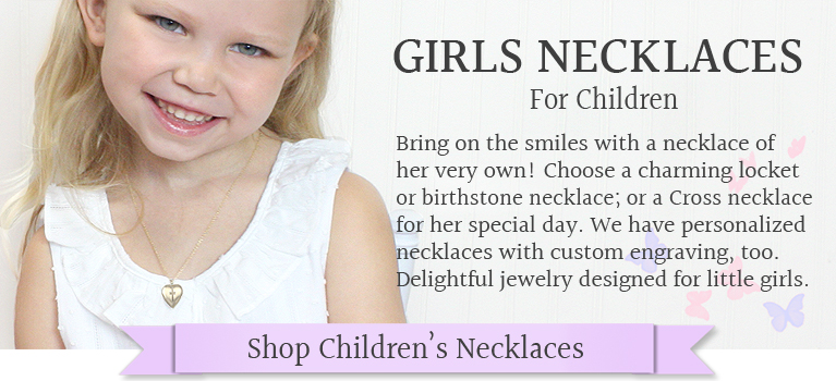 Locket necklaces and personalized necklaces for girls.