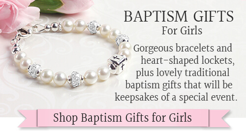 Shop for baptism gifts for girls.