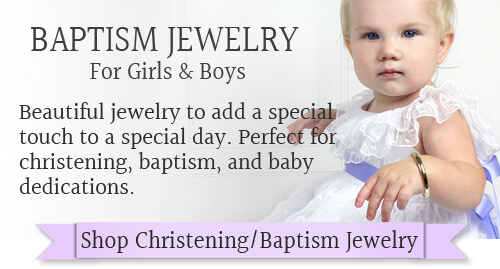 Shop for christening and baptism jewelry for baby girls and baby boys.