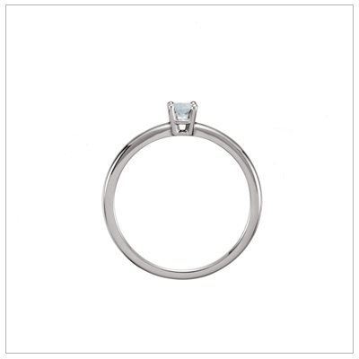 Diamond children's ring upright view.