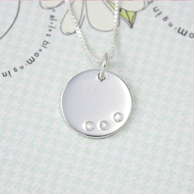 3 Diamond Engravable Charms
