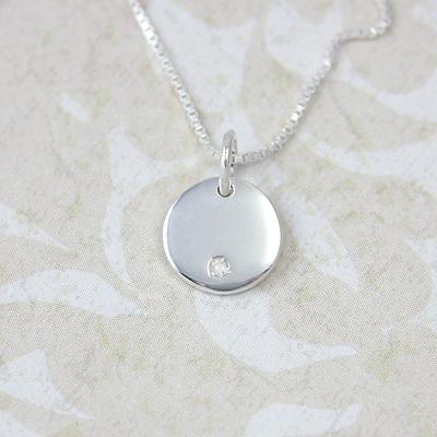 Tiny Sterling Silver Diamond Charms - 1582