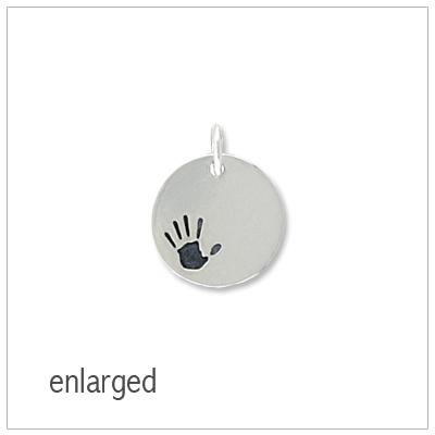 Silver Handprint Bracelet Charms - 1583