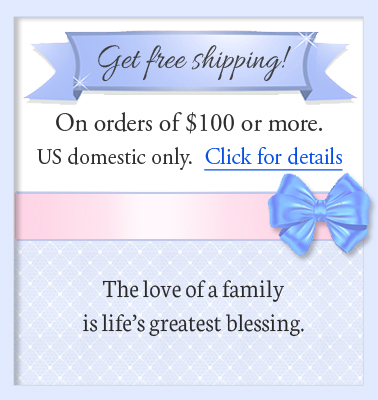 Free shipping for mothers jewelry orders over one hundred dollars.
