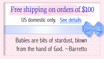 Information on free shipping for baby gifts.