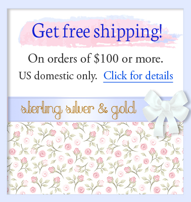 Free shipping on children's jewelry for orders over one hundred dollars