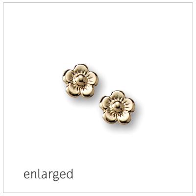 2e3224474cd4f 14kt Gold Baby Flower Earrings