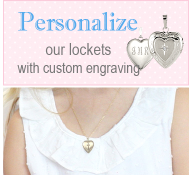 Personalize our locket necklaces with custom engraving.