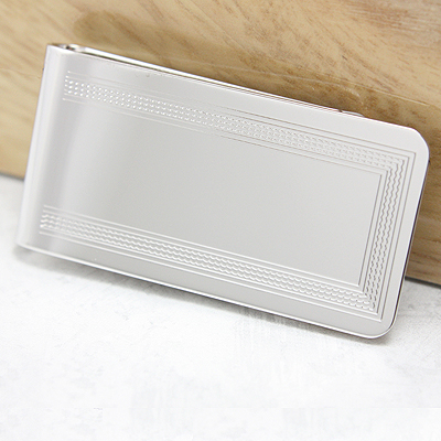 Mens Embossed Money Clip