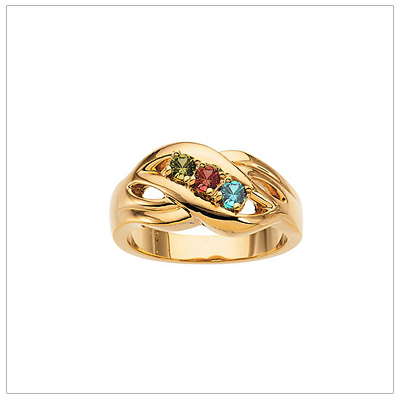 10kt Gold Crossover Mothers Rings