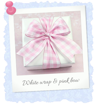 white and pink wrap