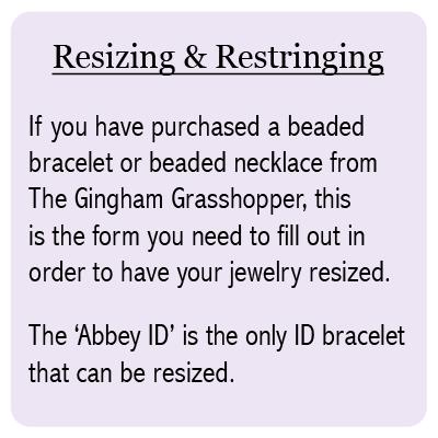 Resizing Service - 101