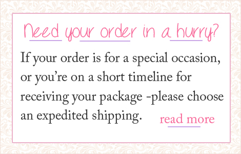 Choosing expedited shipping for baby jewelry