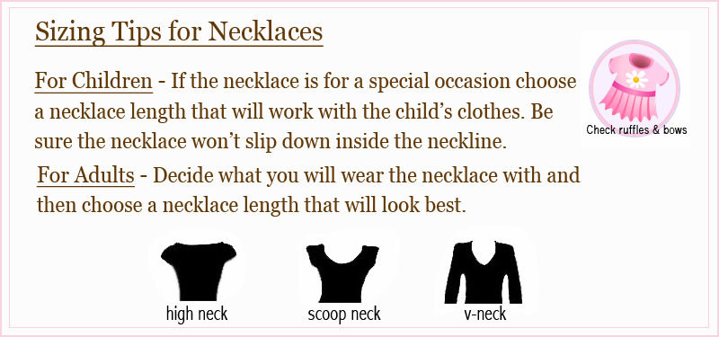 necklace sizing tips
