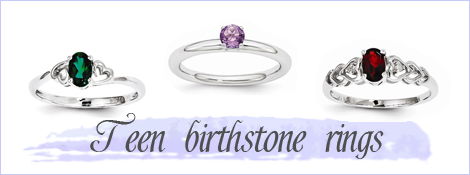 Birthstone rings for teens.