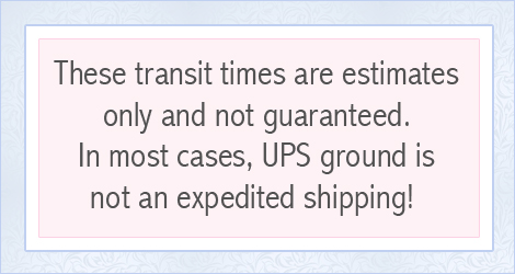UPS ground map shipping estimates, mobile size.