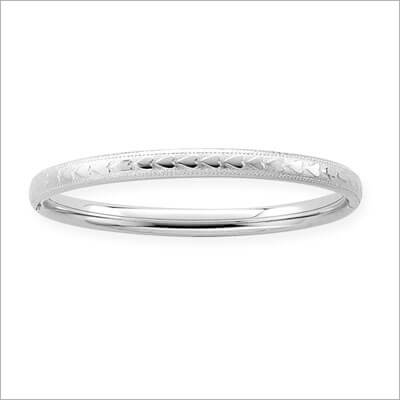 Raised Heart Youth Bangle Bracelets 6.25 inches in bangle bracelets for youth