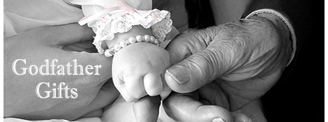 Godfather holding his Goddaughter's hand.